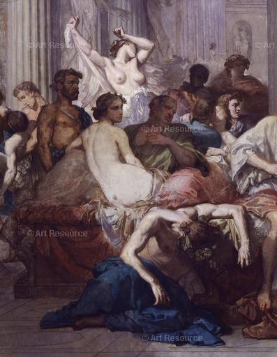 Thomas Couture. Romans of the Decadance (1847). Detail. Musée d'Orsay, Paris.
