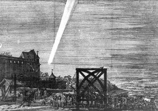 Comet of 1680. From a pamphlet by Simon Bornmeister (1681). Nurenberg.