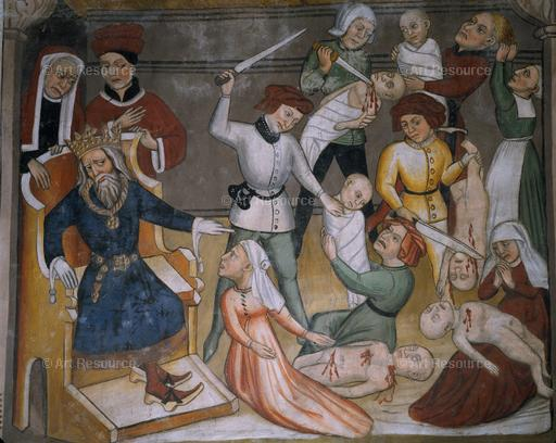 Anonymous. Slaughter of the Innocents (15th century fresco)