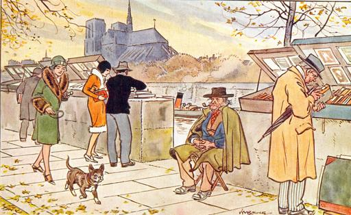 Henry Matthew Brock. Illustration for Bell's New French Picture Cards (c. 1930)