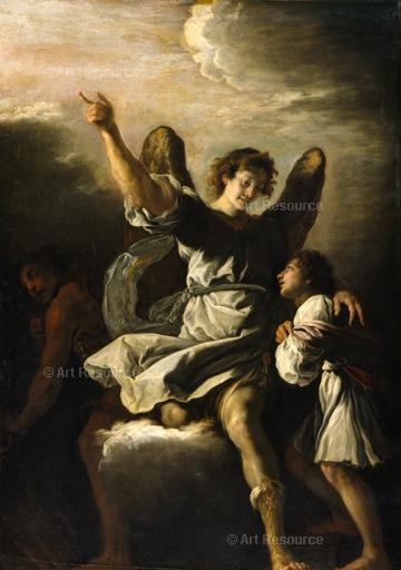 Domenico Fetti. The Guardian Angel Protects a Child from the Influence of the Devil (17th C.). Louvre, Paris.
