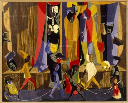 """Jacob Lawrence. """"All Hallows Eve"""" (1960). Private collection."""