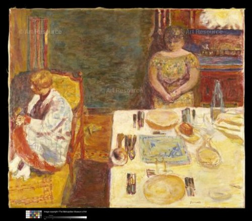 Pierre Bonnard. Before Dinner (1924). Metropolitan Museum of Art, New York.