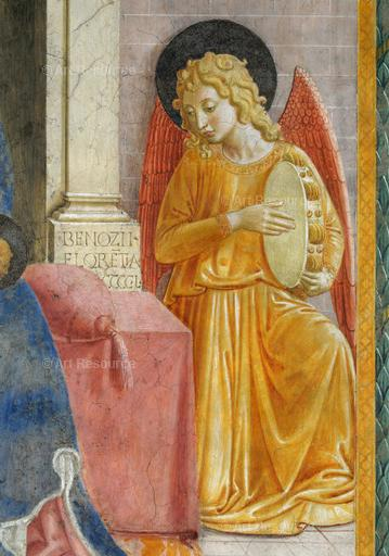 Benozzo Gozzoli. Detail for Madonna and Child with Angels (15th C.). Fresco. S. Fortunato, Montefalco, Italy.
