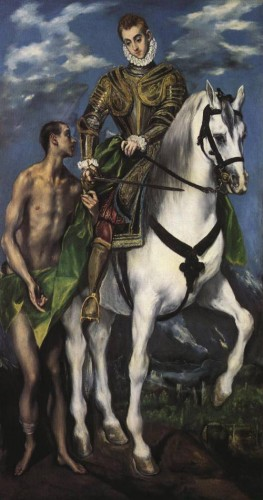 El Greco. St. Martin and the Beggar (1597-99). National Gallery of Art, Washington DC.