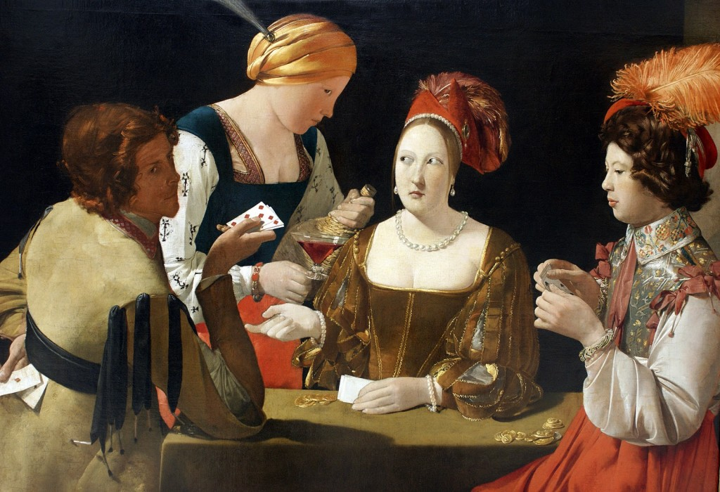 George de La tour. Cheat With the Ace of Diamonds (1635). Louvre Museum, Paris.
