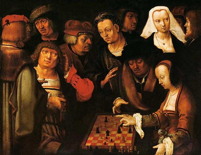 Lucas van Leyden. The Chess Players (c. 1508-10). Staatliche Museen, Berlin