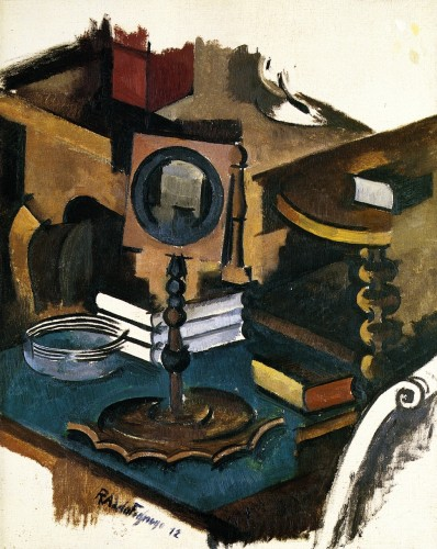 Roger de La Fresnaye. The Corner Table (1912). Study for The Conjugal Life. Private Collection.