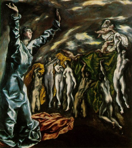 El Greco. The Opening of the Fifth Seal of the Apocalypse, or The Vision of St. John (1608-14). Metropolitan Museum of Art, New York.