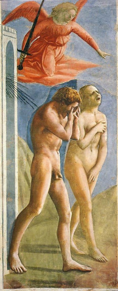 Masaccio. The Expulsion from Paradise. Brancaccii Chapel, Florence.