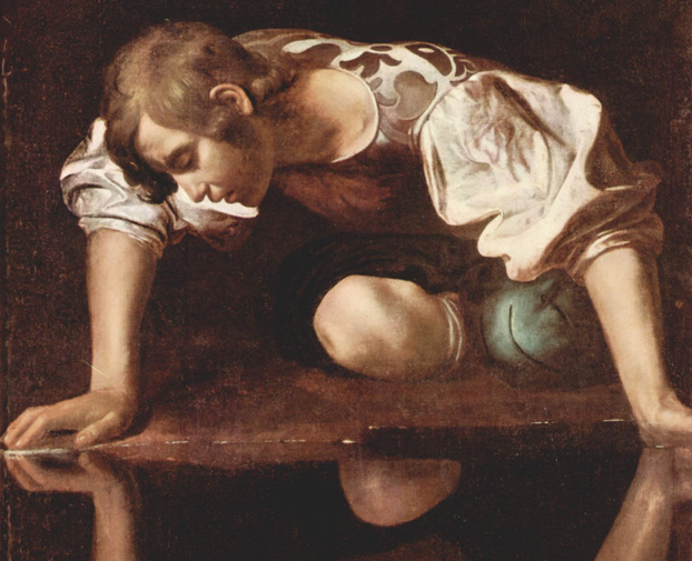 Caravaggio. Narcissus (c. 1597-99). National Gallery of Ancient Art. Rome
