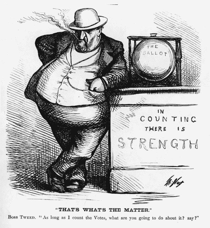 Thomas Nast. Boss Tweed. Late 19th C.