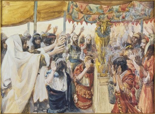 James Tissot. The Golden Calf (late 19th C.). Jewish Museum, NYC