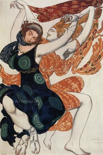 Costume design for the ballet Narcissus. Leon Bakst (1911).