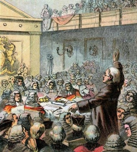 Burke, the Great Orator. Illustration from Pictures of English History (published 1850).
