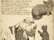A Witch and Her Familiars, a Cat and a Demon (17th C.). British Library, London.