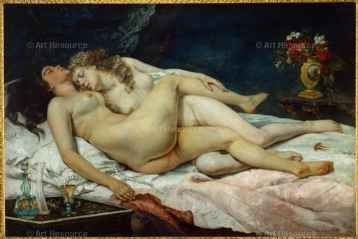 Gustave Courbet. The Two Friends (1867). Musee du Petite Palais, Paris.