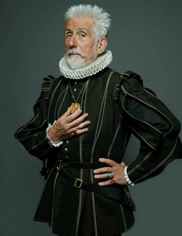 Roy Strong, dressed for a 2010 photo shoot. Courtesy of The Daily Mail, UK.