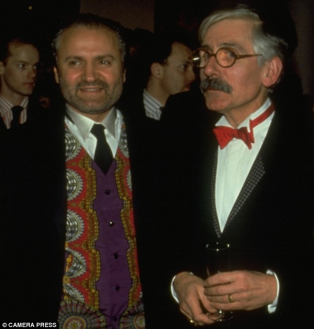 "Roy Strong and his ""precious and private friend"" designer Gianni Versace."
