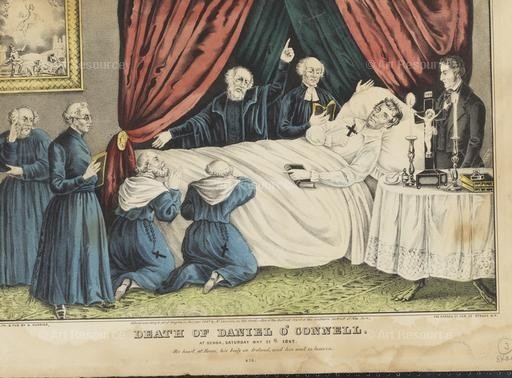 Death of Daniel O'Connell. Currier Lithograph (1847). Museum of the City of New York.