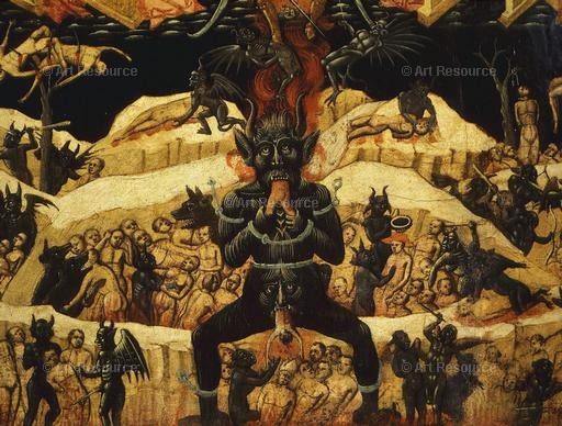 Anonymous. Hell (15th C.). Church of St. Petronius, Bologna.