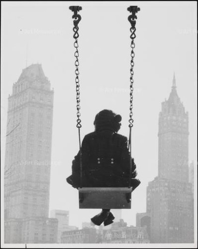 Girl on a Swing in Central Park. New York Historical Society.