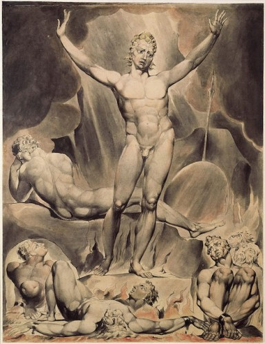 William Blake. Satan Arousing the Rebel Angels (c.1803-5). Victoria & Albert Museum, London.