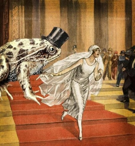 Solange Gautier. Bride Running from Toad Groom (early 20th C.).