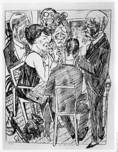 Max Beckmann. The Disillusioned (1922). Staatliche Museen, Berlin.
