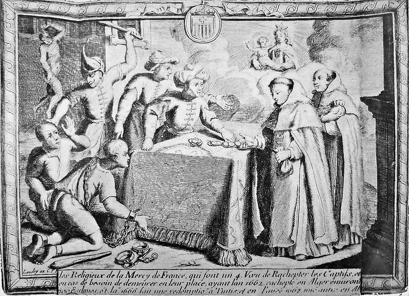 Ransom of Catholic Slaves by a Monk in the Barbary State. (17th C.).