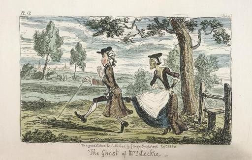 George Cruikshank. The Ghost of Mrs. Leckie (1830).