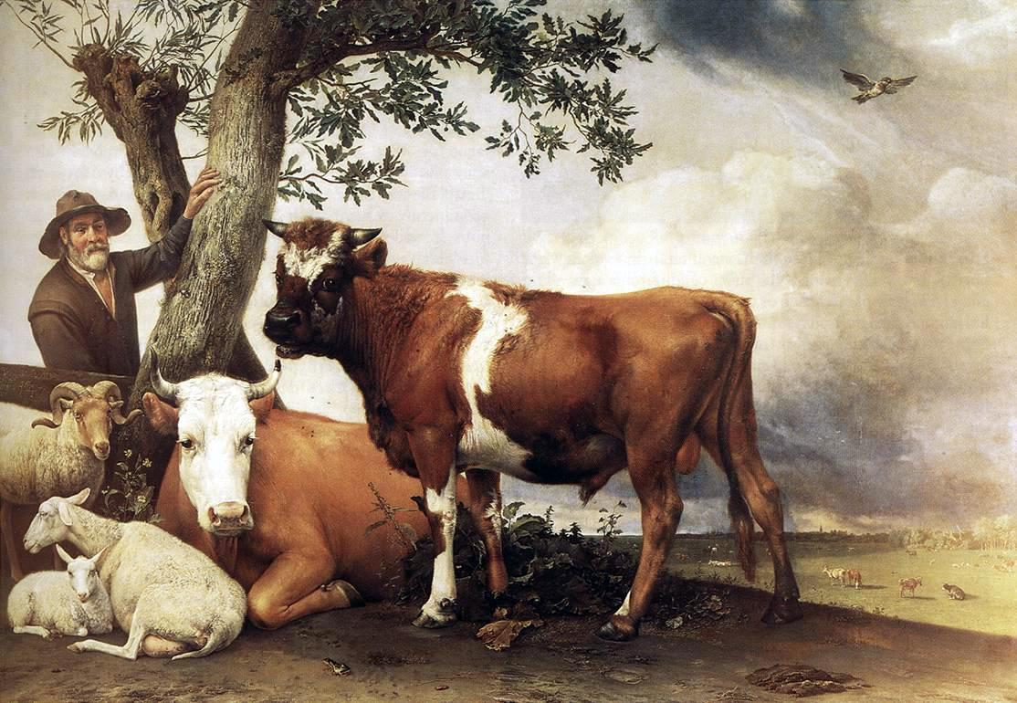 Paulus Potter. The Young Bull (1647). The Mauritshuis, NL.