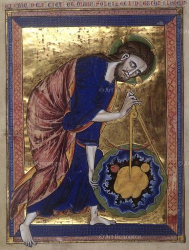 Artist Unnamed. God the Father Measuring the Universe (13th Century). Nationalbibliothek, Vienna.