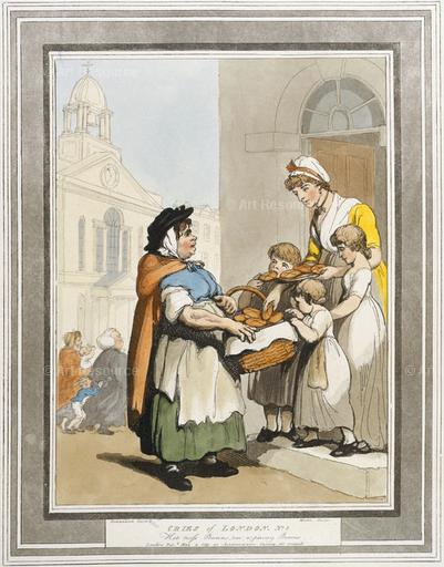 Thomas Rowlandson. Two-a-penny Buns (1799). Museum of London, London.