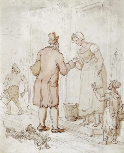 Thomas Rowlandson. London Penny Post (c. 1800). Museum of London, London.