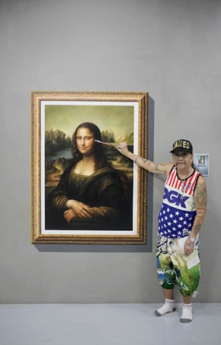 Man with Mona Lisa