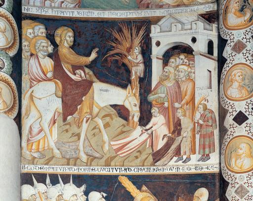 Anonymous. Fresco (14th C). Basilica of San Abbondio, Como.
