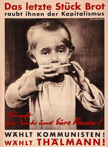 John Heartfield. Capitalism Robs You of the Last Piece of Bread (1932). Museum für Gestaltung, Zurich.