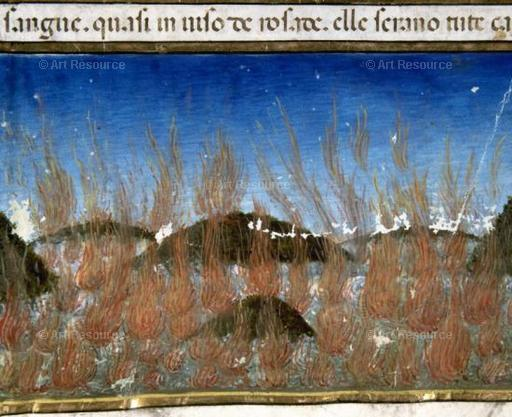 At the End of the World, the Sea Will Burn. Codex of Predis (1476). Royal Library, Turin.