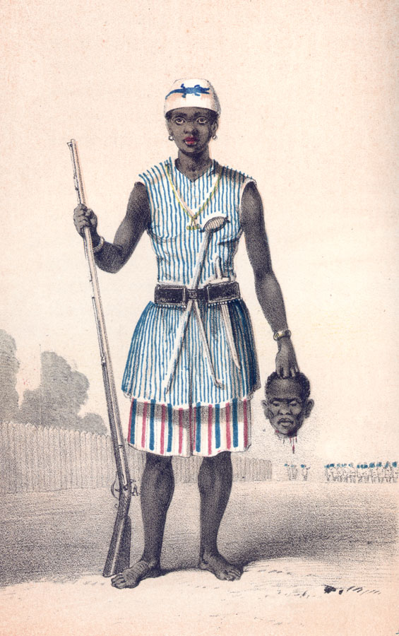 Anonymous Illustration. A Dahomey Amazon Warrior (19th C.). Smithsonian.