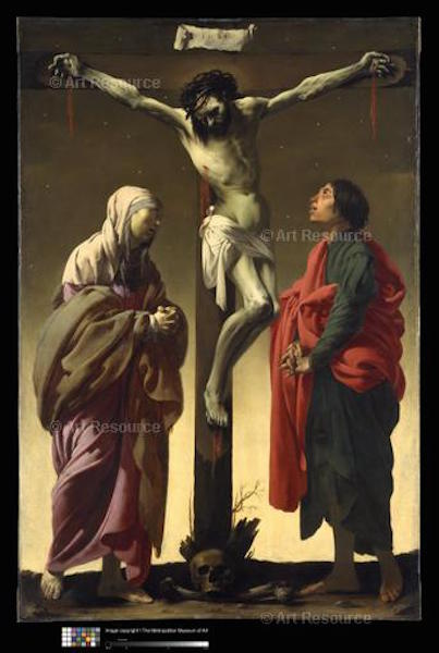 Hendrik Terbrugghen, Crucifixion with Virgin and St. John (c.1625). ©Metropolitan Museum, NYC.