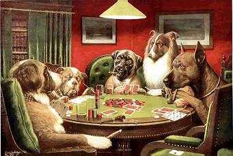 Cassius Marcellus Coolidge. Gambling Dogs (early 1900's). Private Collection.