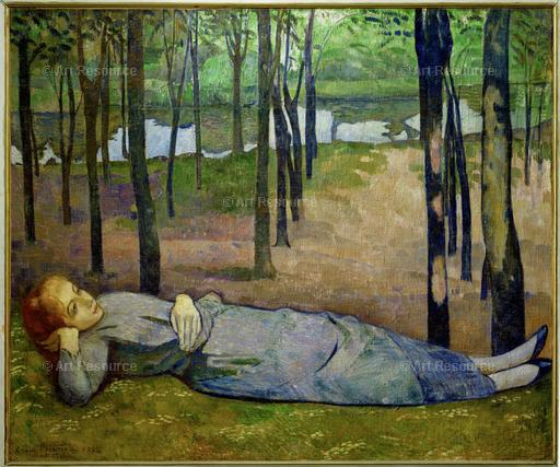 Emile Bernard. Madeleine in the Bois d'Amour on the River Aven. (late 1900s). Musée d'Orsay, Paris.