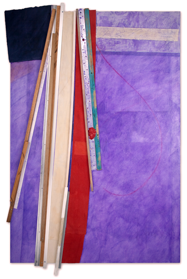Bruce Dorfman. Purple & Purple (2015). Courtesy of June Kelly Gallery.