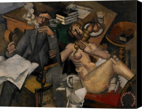 Roger de La Fresnaye. The Conjugal Life (1912-13). Minneapolis Institute of Art.