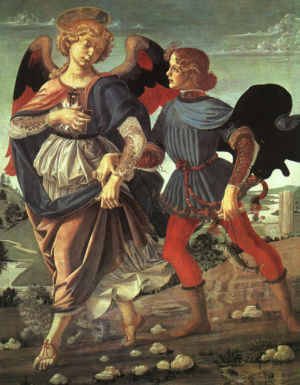 Andrea del Verrochio. Tobias and the Angel (c. 1470). National Gallery, London.