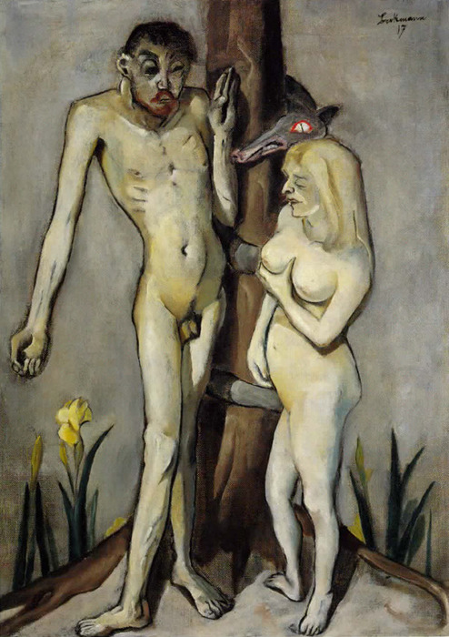 Max Beckmann. Adam and Eve (1917); Museum of Modern Art, NYC