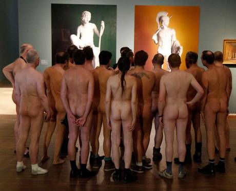 Portland Art Museum - naked audience