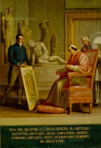 """Pius VII Forming the Collection of the Biblioteca Apostolica Vaticana,"" Domenico De Angelis (1852-1904)"