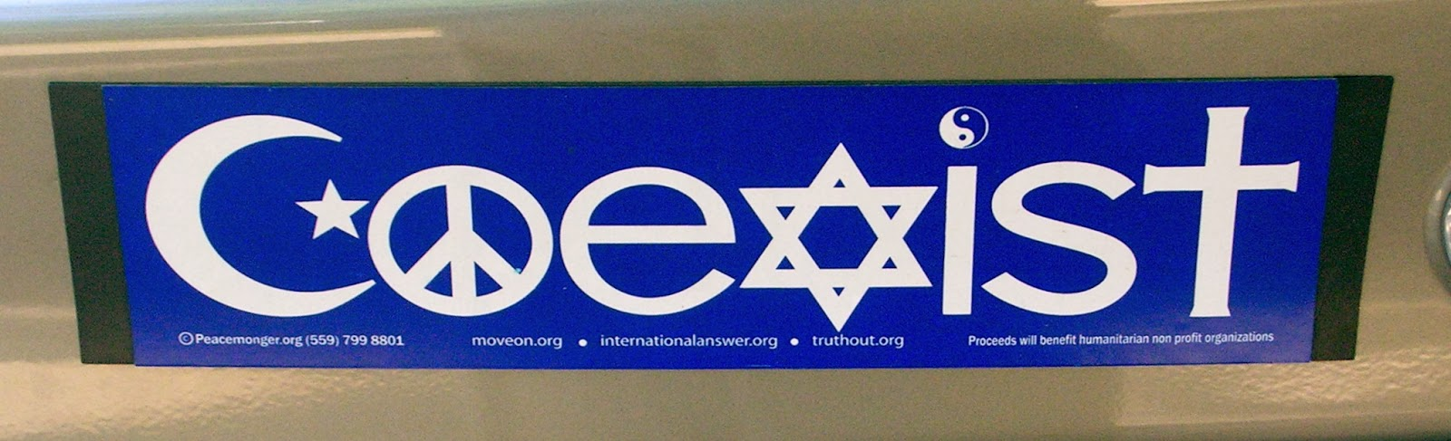 Coexist-bumpersticker
